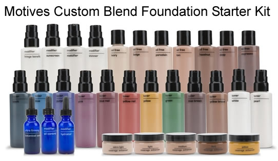 Motives Custom Blend Foundation Starter Kit