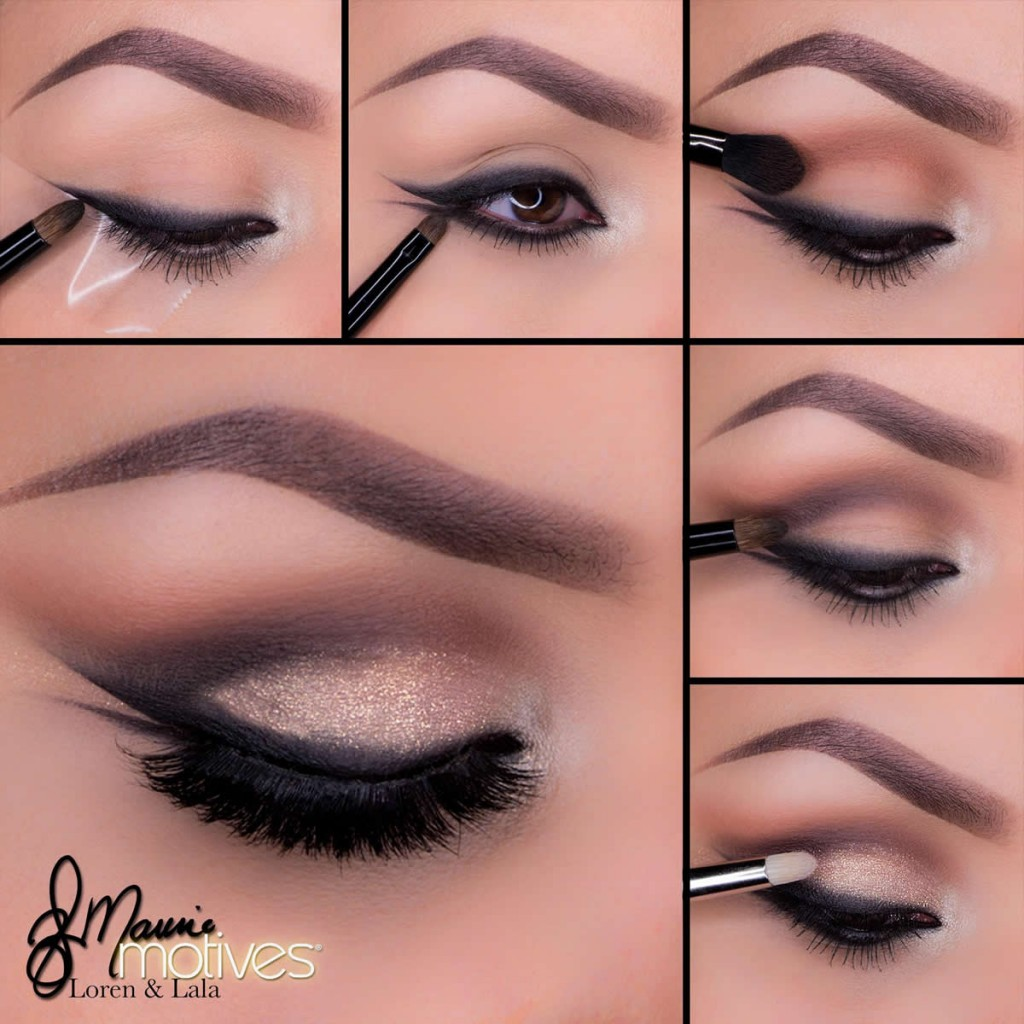 Smudged double winged liner tutorial baditri Image collections