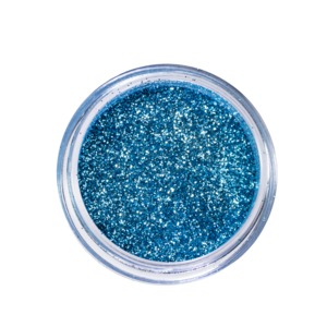 Motives Glitter Pots in Lagoon Blue