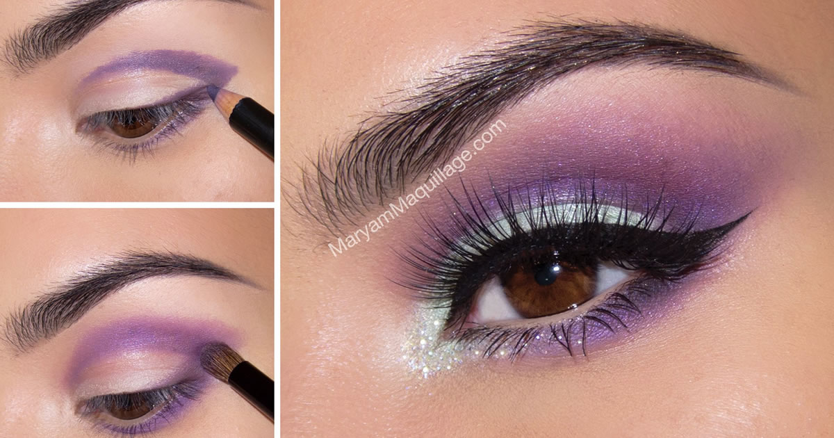 Smokey eyes in mint and purple large