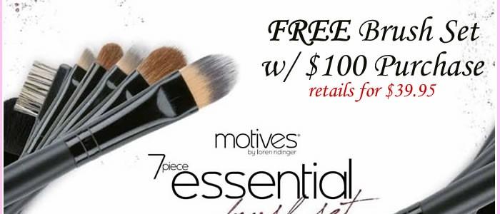 Freebie Friday Motives 7-Piece Brush Set
