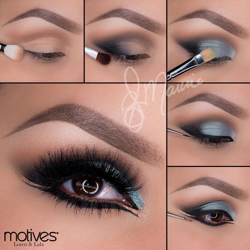 Arabic Blue And Gold Look Using Motives Cosmetics