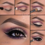 Gold And Purple Shimmer Look Using Motives Cosmetics